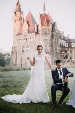 Ślub w stylu glamour i wspaniały plener na Zamku w Mosznej 137