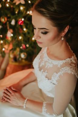 Fotografia ślubna - Piękny zimowy ślub i plener Gosi i Sebastiana 23