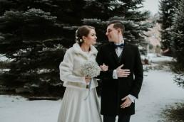 Fotografia ślubna - Piękny zimowy ślub i plener Gosi i Sebastiana 51
