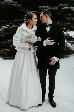 Fotografia ślubna - Piękny zimowy ślub i plener Gosi i Sebastiana 52
