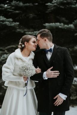Fotografia ślubna - Piękny zimowy ślub i plener Gosi i Sebastiana 55