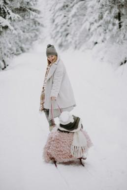 Lola, Kasia i Paweł - zimowa sesja rodzinna 6