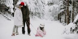 Lola, Kasia i Paweł - zimowa sesja rodzinna 48