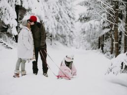 Lola, Kasia i Paweł - zimowa sesja rodzinna 12