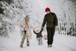 Lola, Kasia i Paweł - zimowa sesja rodzinna 1