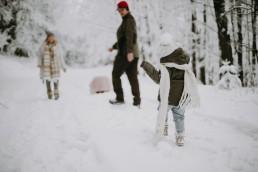Lola, Kasia i Paweł - zimowa sesja rodzinna 5