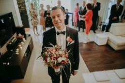 Zimowy ślub w Prudniku - Ślub w Kościele w Lasku, Wesele pod Wieżyczką, Plener na Zamku w Mosznej 29