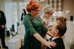 Zimowy ślub w Prudniku - Ślub w Kościele w Lasku, Wesele pod Wieżyczką, Plener na Zamku w Mosznej 32