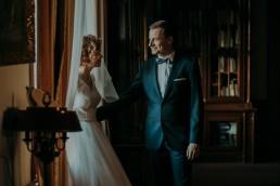Zimowy ślub w Prudniku - Ślub w Kościele w Lasku, Wesele pod Wieżyczką, Plener na Zamku w Mosznej 80