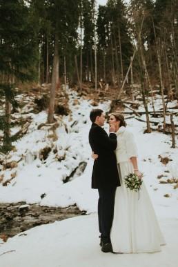 Fotografia ślubna - Piękny zimowy ślub i plener Gosi i Sebastiana 66