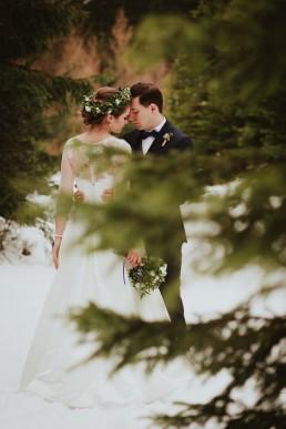 Fotografia ślubna - Piękny zimowy ślub i plener Gosi i Sebastiana 72