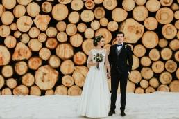Fotografia ślubna - Piękny zimowy ślub i plener Gosi i Sebastiana 2