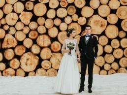 Fotografia ślubna - Piękny zimowy ślub i plener Gosi i Sebastiana 8