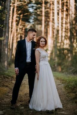 Leśny plener ślubny pod Opolem