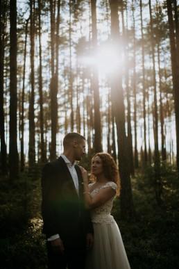 Kasia i Paweł - Magiczny leśny plener - wesele w hotelu Szara Willa 125