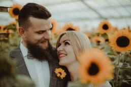Natalia i Łukasz - Rustykalny ślub - Dworek Komorno - Szklarnia słoneczników - Pole lawendy 222