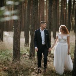 Kasia i Paweł - Magiczny leśny plener - wesele w hotelu Szara Willa 2