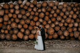 Leśny plener ślubny