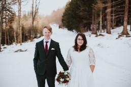 bajkowy plener ślubny zimą