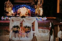 zimowe dekoracje ślubne