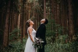 leśny rustykalny plener ślubny