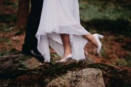 ślub w lesie buty