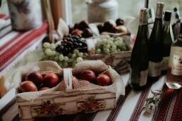 Rustykalne wesele jedzenie
