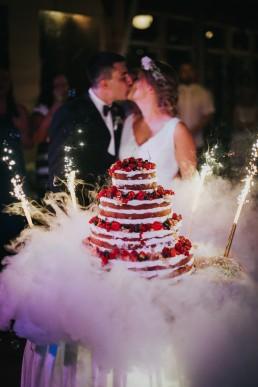 Tort ślubny z ciekłym azotem