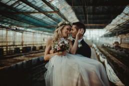 rustykalny plener ślubny