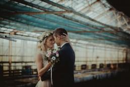 szklarnia na plener ślubny