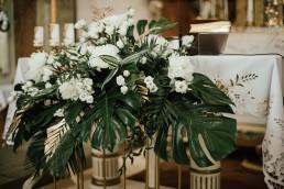 ślub w stylu tropikalnym