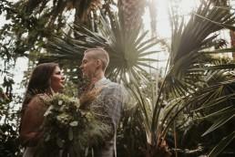 Jessi & Krzysiek - egzotyczna sesja w gliwickiej palmiarni 3