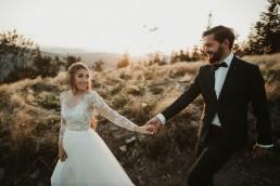 górski jesienny plener ślubny