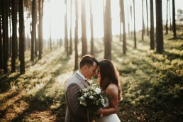 ślubny leśny plener