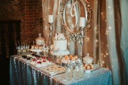 słodki stół na chrzest