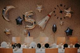 dekoracje kosmiczne przyjęcie