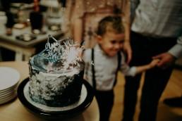 kosmiczny tort urodziny