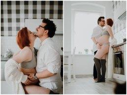 Sesja ciążowa w kuchni