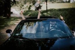 amerykański samochód na ślub