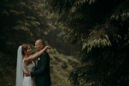 zdjęcia ślubne w mgle