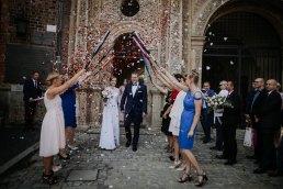 oryginalny szpaler po ślubie